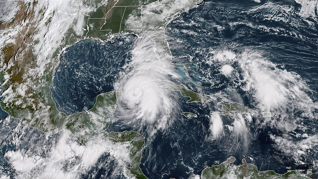Hurricane Michael gathers strength in the Gulf of Mexico. The storm is expected to make landfall Wednesday. (Photo courtesy of NOAA)