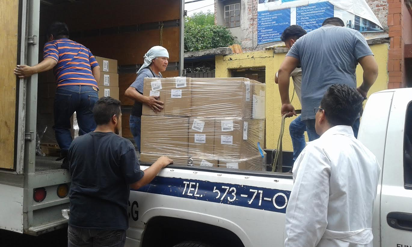 Requested supplies from Direct Relief arrive at Mexfam facility in Mexico. Photo courtesy of Mexfam.