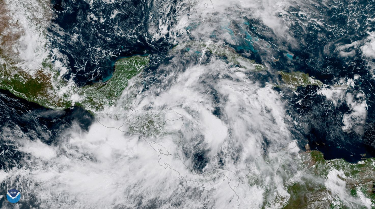 Tropical Storm Nate is seen over Central America. (Photo courtesy of the National Oceanic and Atmospheric Administration)