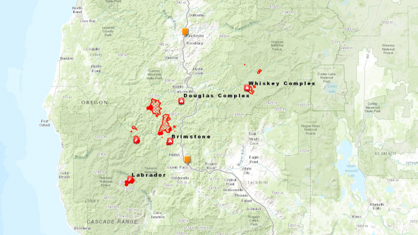 oregon fires aug 1