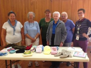 Goleta Knitting and Crocheting Group meets weekly to knit items for people in need.