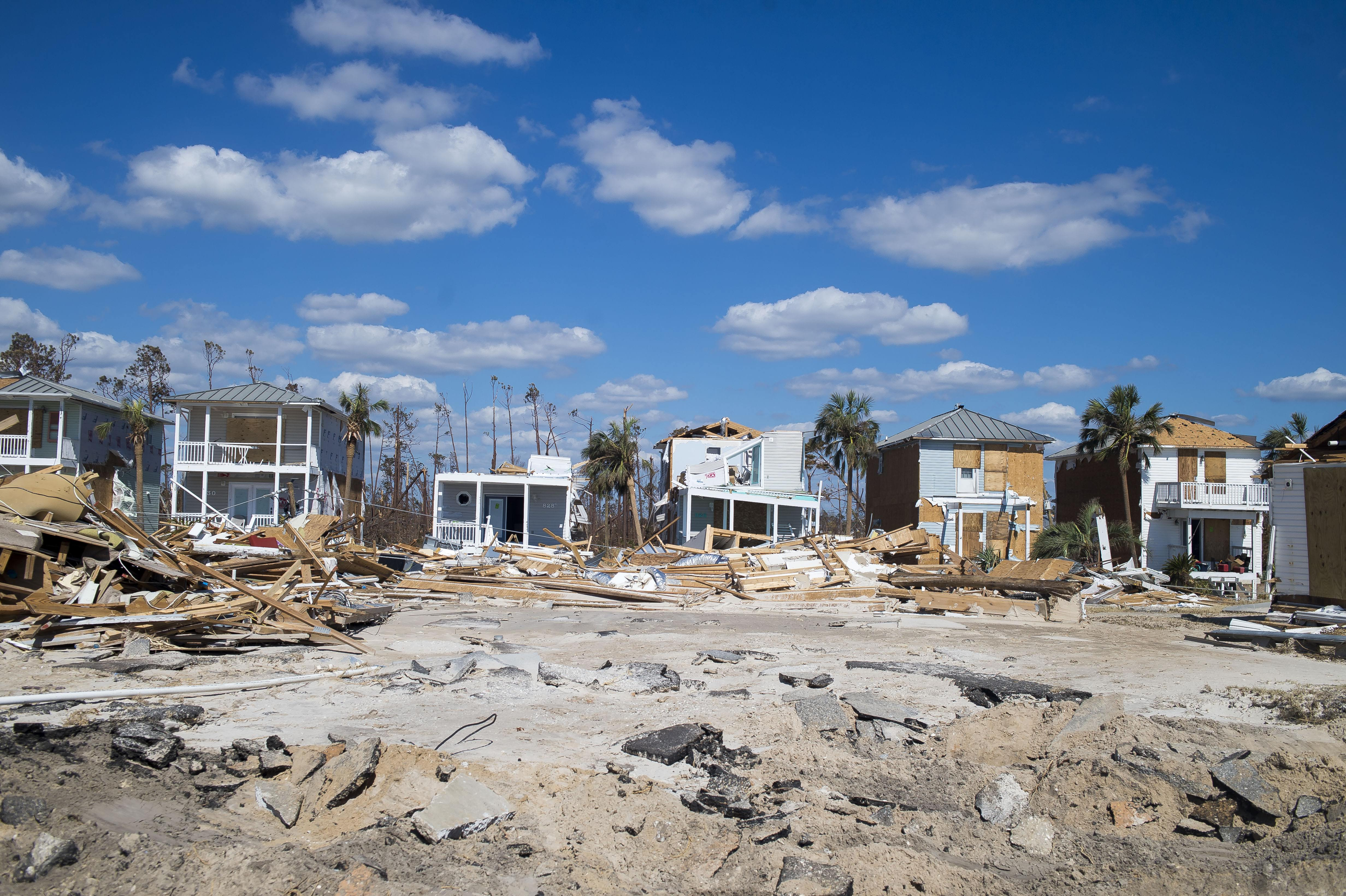 Mexico Beach, Florida, was demolished by Hurricane Michael's impact in the Florida Panhandle. (Photo by Zack Wittman for Direct Relief)