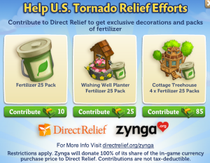 zynga us tornado relief
